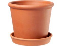 Горшок для растения ТЕРРА Ирис 7 х 8 см Коричневый (000001412)