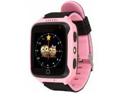 Умные смарт-часы UWatch Q529 с GPS трекером Pink (2964-8316)