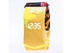 Бумажные водонепроницаемые часы Paprcuts Watch Желтые (an1004i10044)