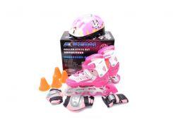 Набор роликовые коньки Kepai со шлемом и защитой 34-37 Розовые (2040-04)