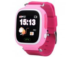 Детские Android смарт-часы UWatch Q90 с Wi Fi Pink (1058-8314а)