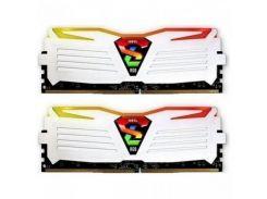 Оперативная память Geil DDR4 16GB 2x8GB 2400 MHz Super Luce White (GLWC416GB2400C16DC)