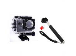 Экшн-камера B5R с пультом + Монопод Black (2d-05)