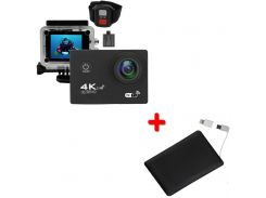 Экшн-камера 2day B5R с пультом Black + УМБ 2Life Power Bank 2500 mAh Black (2d-362)