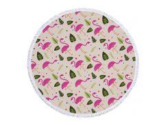 Пляжный коврик 150 см Фламинго (2-976225893)
