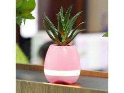 Умный цветочный горшок Trends Smart Music Flowerpot + Bluetooth колонка Розовый (hub_gmNn98515)