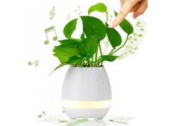 Умный цветочный горшок Smart Music Flowerpot + Bluetooth колонка Белый (hub_WEZW76949)