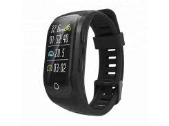 Умный фитнес браслет Lemfo S908 со встроенным GPS Черный (ftlems908sbl)