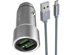Автозарядка LDNIO 3.6A Auto -ID USB Zinc Alloy Charger (23056)