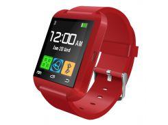 Смарт-часы UWatch U8 функция Bluetooth мониторинг сна умные часы Bluetooth управление камерой Red (2362-5653)