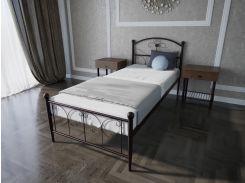 Кровать MELBI Патриция Односпальная 90*190 см Бордовый лак (КМ-002-01-1бор)