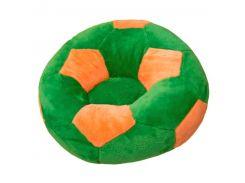 Детское кресло Золушка мяч 78см Зелёно-оранжевый (297-1)