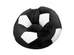 Детское кресло Золушка мяч 60см Черно-белый (415-3)