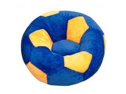 Детское кресло Золушка мяч 60см Сине-желтый (415-2)