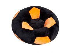 Детское кресло Золушка мяч 60см Черно-оранжевый (415-4)