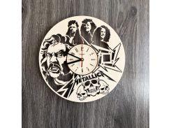 Деревянные часы на стену 7Arts Metallica (CL-0233)