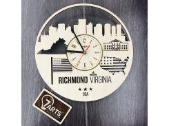 Интерьерные часы на стену 7Arts Ричмонд Виргиния (CL-0109)
