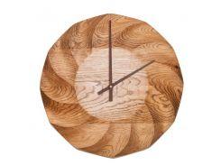 Настенные часы из деревянного массива DK Store Premium A003 Срезанная спираль (hub_cbSQ45342)