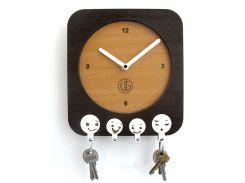 Настенные часы-ключница DK Store UGT003-A 200х220 мм (hub_bCtT34251)