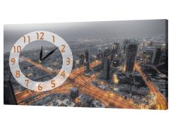Настенные часы на холсте Декор Карпаты Токио 07 Серый (aUMt96266)