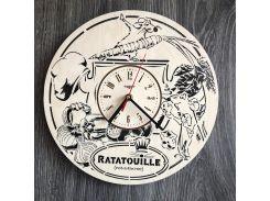 Бесшумные детские настенные часы 7Arts из дерева Рататуй (CL-0283)