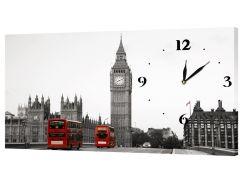 Настенные часы Декор Карпаты 53х29 Серый (53х29-g24)