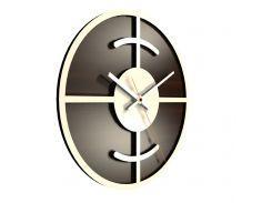 Настенные часы Декор Карпаты UGT004-А Темно-коричневый (BCMS98044 )
