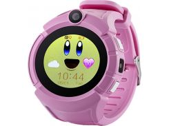 Смарт-часы UWatch Q610 Kid wifi gps smart watch Pink (52919)