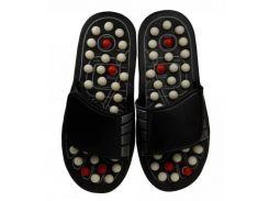 Рефлекторные массажные тапочки Supretto 42-43 Черный с белым (52360001)