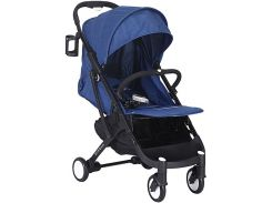 Прогулочная коляска Yoya Plus Синяя с черной рамой (670065016)
