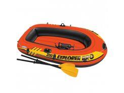 Лодка надувная Intex 58357 Explorer 200 Pro на 2 человека Красный (int58357)