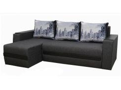 Угловой диван Garnitur.plus Токио серый 245 см (DP-365)