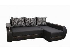 Угловой диван Garnitur.plus Граф темно-графитовый 245 см (DP-245)