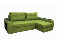 Угловой диван Garnitur.plus Барон салатовый 250 см (DP-178)