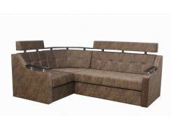 Угловой диван Garnitur.plus Элегант 3 светло-коричневый 235 см (DP-333)