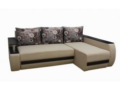 Угловой диван Garnitur.plus Граф светло-бежевый 245 см (DP-242)