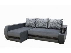 Угловой диван Garnitur.plus Граф светло-серый 245 см (DP-205)