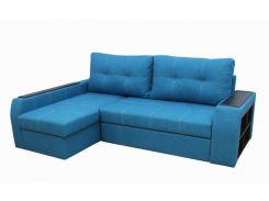 Угловой диван Garnitur.plus Барон голубой 250 см (DP-164)