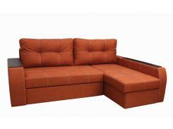 Угловой диван Garnitur.plus Барон оранжевый 250 см (DP-195)