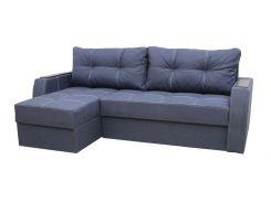 Угловой диван Garnitur.plus Лорд синий 220 см (DP-20)