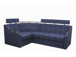 Угловой диван Garnitur.plus Элегант 3 синий 235 см (DP-335)