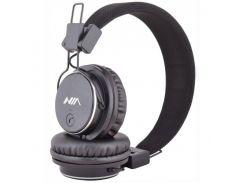 Беспроводные Bluetooth наушники NIA-Q8 с MP3 плеером радио Черный (60_45405)
