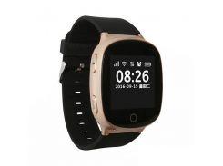 Умные смарт часы с GPS и пульсометром Smart Watch S200-PLUS Золото (hub_QkMA36965)