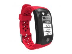 Фитнес браслет Smart Band SiMax S908 GPS Красный (SBS908R)