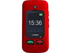 Мобильный телефон Sigma mobile Comfort 50 Shell Duo Red кнопочный раскладушка (2079558)
