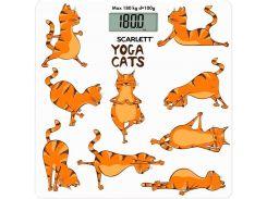 Весы напольные Scarlett SC-BS33E077 Белый с оранжевым (F00154297)