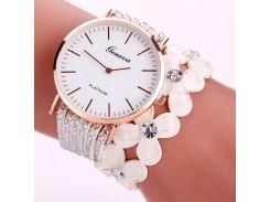 Женские часы Geneva Белый (1305)