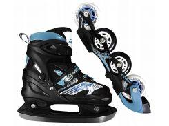 Роликовые коньки SportVida 4 в 1 SV-LG0019 Size 31-34 Black/Blue (SV-LG0019)