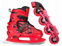Роликовые коньки SportVida 4 в 1 SV-LG0024 Size 39-42 Red (SV-LG0024)