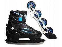 Роликовые коньки SportVida 4 в 1 SV-LG0028 Size 31-34 Black/Blue (SV-LG0028)